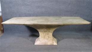 FAUX MARBLE TABLE MANNER SPRINGER