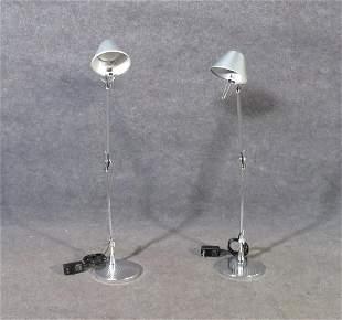 PAIR SIGNED ARTE TOLOMEO DESK LAMPS