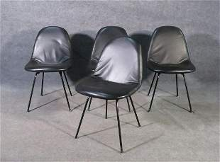 4 HERMAN MILLER by CHARLES EAMES DINING CHAIRS