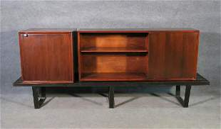 GEORGE NELSON BENCH WITH MODULAR SHELF AND CABINET