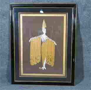 SIGNED ORIENTALE ERTE LADY IN GOWN SERIGRAPH