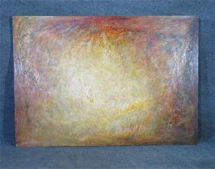 """SIGNED MODERN """"SITTING IN THE SUN"""" ABSTRACT PAINTING"""