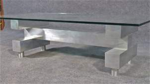 PAUL EVANS STYLE CITYSCAPE COFFEE TABLE