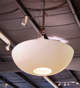 MODERNIST HANGING DOME LIGHT FIXTURE