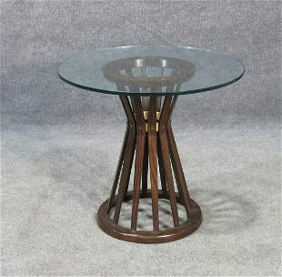 DUNBAR GLASS TOP TABLE