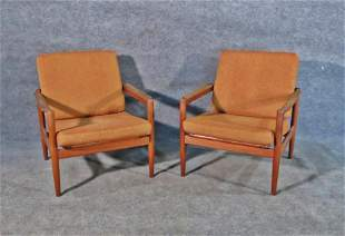 PAIR MOBELFABRIK DANISH LOUNGE CHAIRS