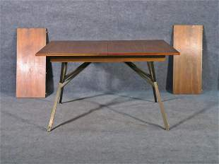 PAUL MCCOBB STYLE ABSTACT BASE WALNUT DINING TABLE