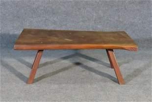 NAKASHIMA STYLE WALNUT SLAB TABLE