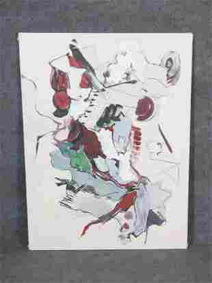SIGNED MILLER ABSTRACT PAINTING ON CANVAS