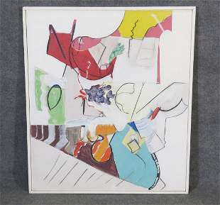 "SIGNED MILLER ABSTRACT ""ALICE'S PARTY"""