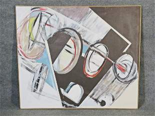SIGNED MILLER ABSTRACT PAINTING