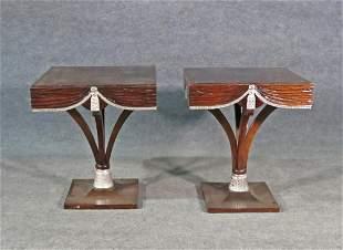 PR PEDESTAL TABLES ATTR GROSFELD HOUSE