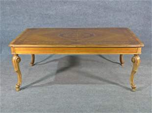 DUTCH MARKETREE INLAID DINING TABLE