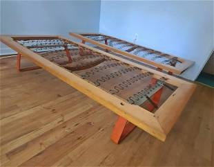 PAIR MID CENTURY MODERN DAY BEDS