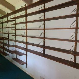 FORTY (40) FT MULTI SECTION BOOKSHELF/HANGING WALL UNIT