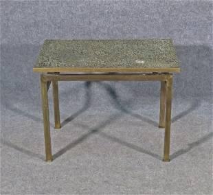 LAVERNE ESTRUCAN SPIRAL SIDE TABLE