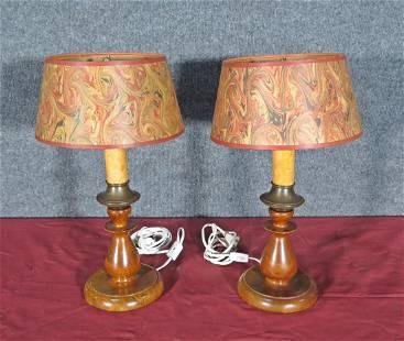 PAIR 1930'S LAMPS