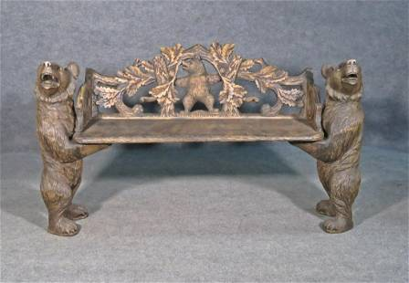 BLACK FOREST 3PC CARVED BENCH