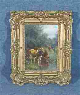 CHARLES FRANKLIN PIERCE COWS PAINTING