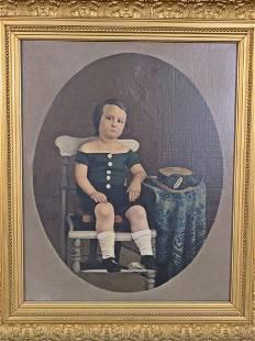 19TH C AMERICAN PORTRAIT PAINTING