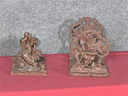 2 PAIR BLACK FOREST BOOKENDS