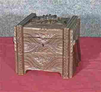 ANTIQUE BLACK FOREST JEWEL/MUSIC BOX
