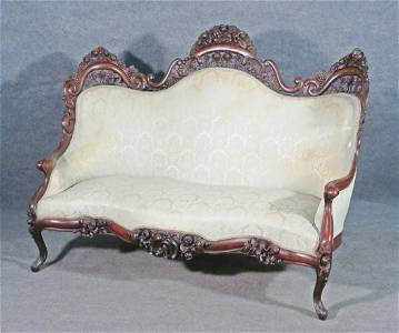 BELTER FOUNTAIN ELMS CARVED SOFA