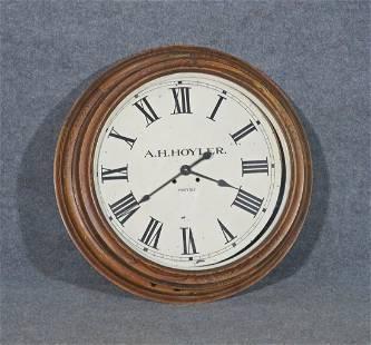 A. H. HOYLER ANTIQUE ELECTRONIC CLOCK