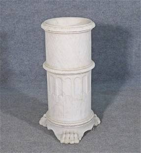 ITALIAN CARVED MARBLE UMBRELLA STAND