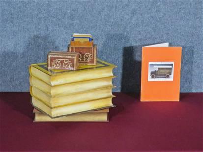 FRENCH CARD CASE, ITALIAN TIN BOOKS, HUNTLEY & PALMER