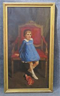 PORTRAIT PAINTING OF A YOUNG GIRL