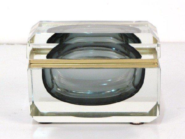 2: LARGE MURANO GLASS HINGED BOX