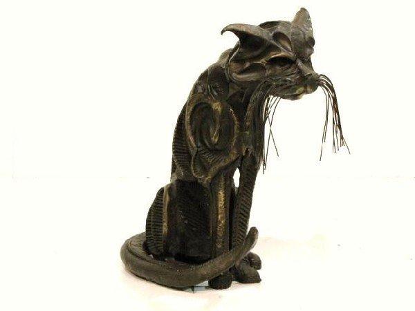 89: JOHN JAGGER ABSTRACT MODERN BRONZE CAT