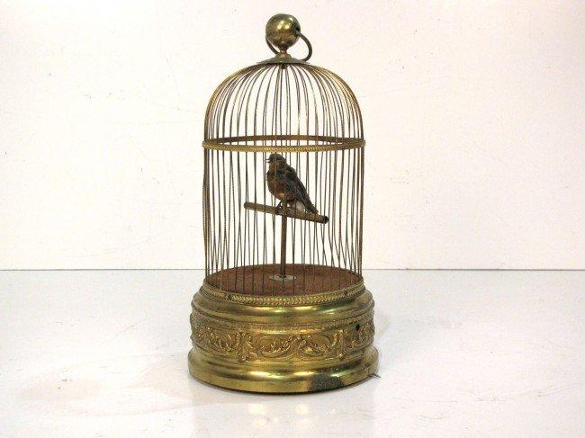 11: ANTIQUE FRENCH BIRDCAGE AUTOMATON