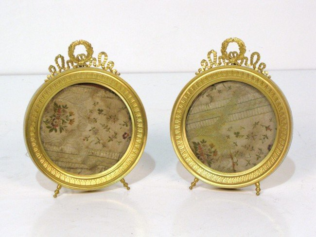 23: Pr. FRENCH BRONZE ROUND PICTURE FRAMES