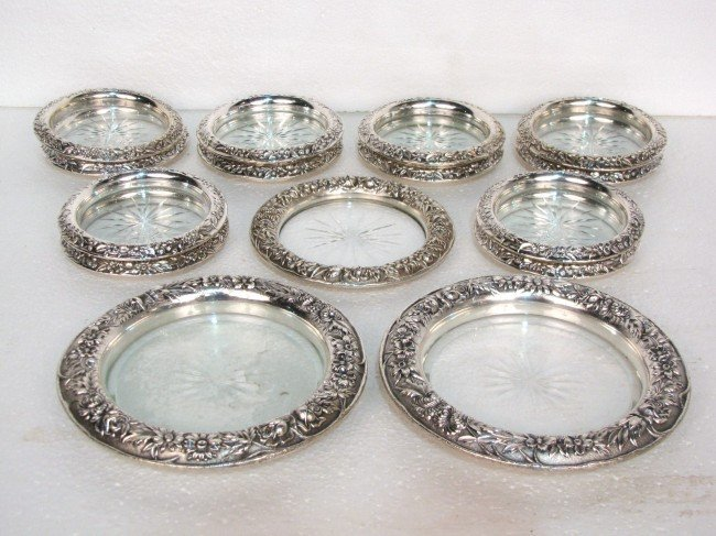 16: 15 KIRK & SON STERLING SILVER REPOUSSE COASTERS