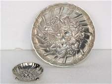 30 2 KIRK  SON STERLING SILVER REPOUSSE NUT DISHES