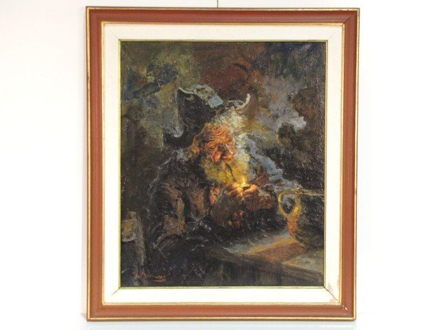 10: GIOVANNI MADONINI PAINTING of an OLD MAN