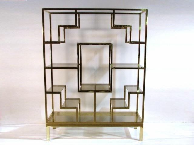 138: MASTERCRAFT BRASS & GLASS ETAGERE