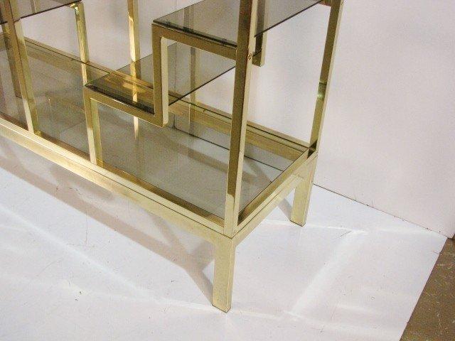 138: MASTERCRAFT BRASS & GLASS ETAGERE - 3
