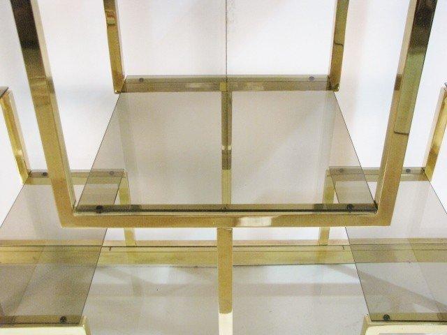 138: MASTERCRAFT BRASS & GLASS ETAGERE - 4