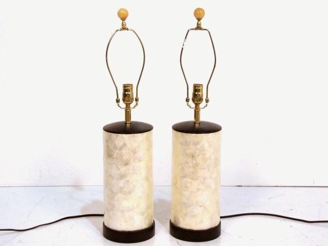 219: Pr. CAPIZ SHELL TABLE LAMPS