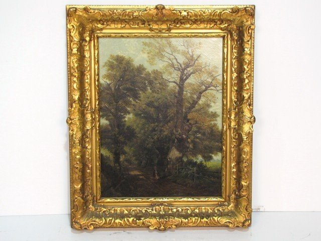 5: 19th c. LANDSCAPE PAINTING signed MCS