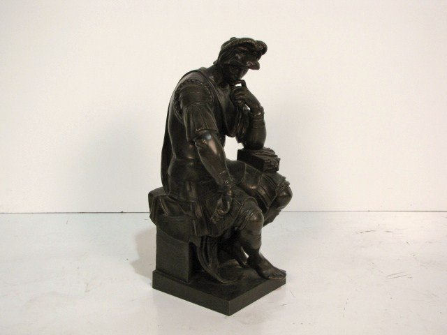 19: THIEBAUT FRERES BRONZE of a SEATED ROMAN