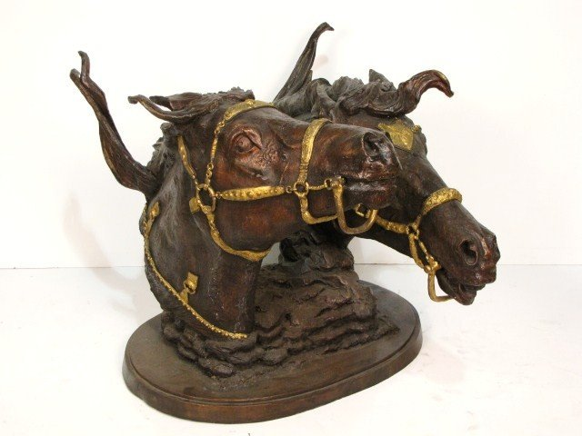 "20: 41"" CHRISTIAN MAAS BRONZE HORSE SCULPTURE"