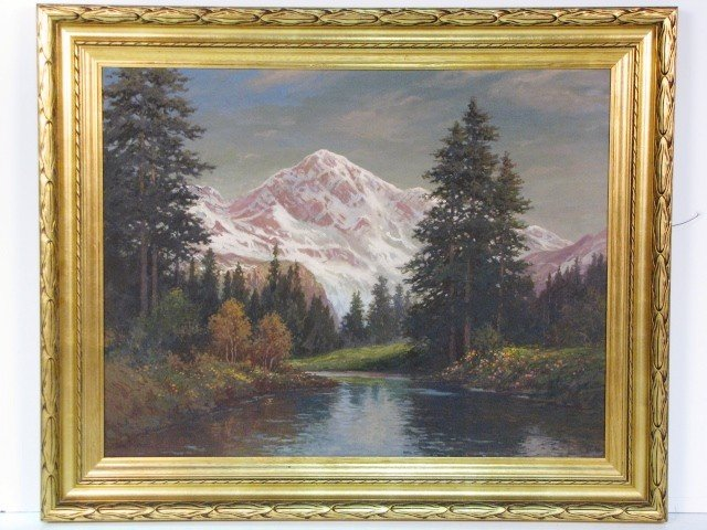 11: WILLIAM PASKELL LANDSCAPE PAINTING MT. CHACORUA NH