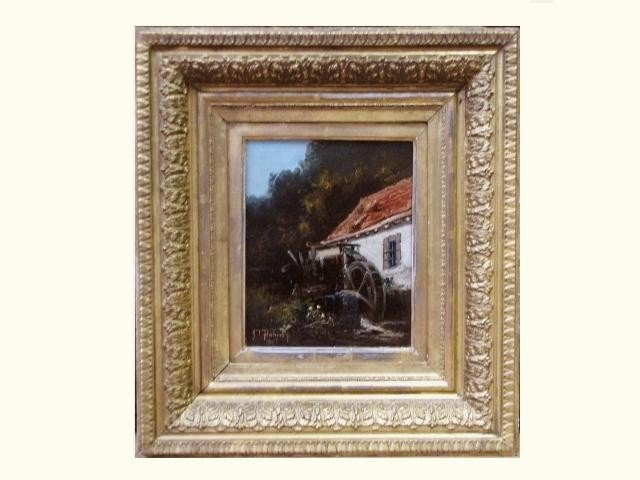 "11A: JAMES THORP FLAHERTY PAINTING ""THE OLD MILL"""