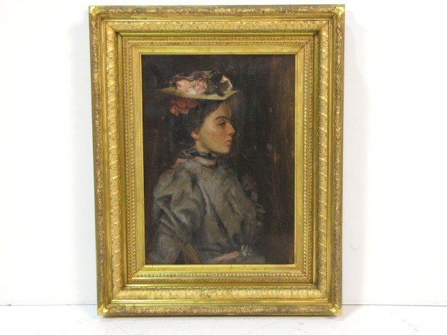 1: IMPRESSIONIST PORTRAIT PAINTING of a YOUNG LADY