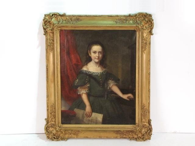 4: EARLY 19th c. PORTRAIT PAINTING of a YOUNG GIRL