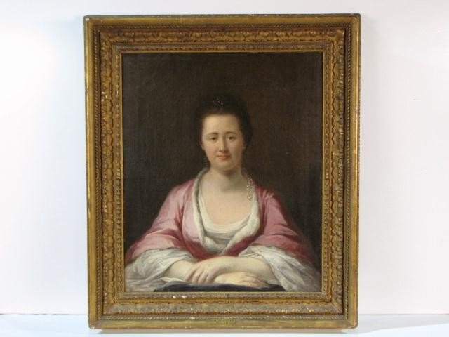5: PORTRAIT PAINTING of a LADY attributed FRANCIS COTES